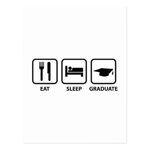 Coma al graduado del sueño postales