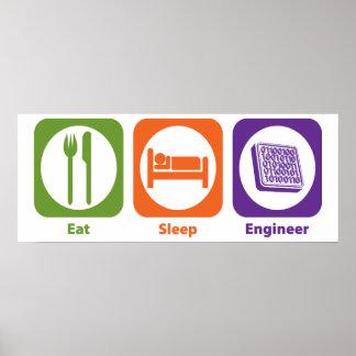 Coma al ingeniero del sueño póster