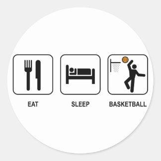 Coma al pegatina del baloncesto del sueño