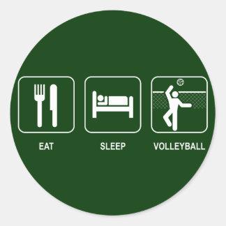 Coma al pegatina del voleibol del sueño