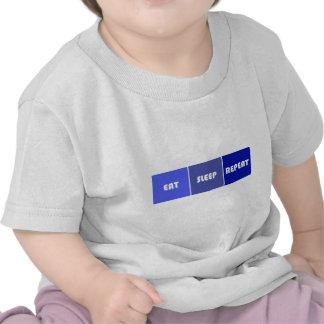 Coma al varón de la repetición del sueño camiseta