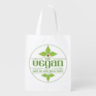 Coma al vegano y nadie consigue daño bolsas para la compra