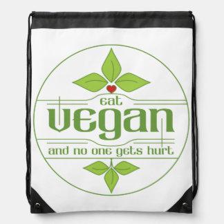Coma al vegano y nadie consigue daño mochilas