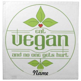 Coma al vegano y nadie consigue daño servilleta de papel
