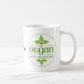 Coma al vegano y nadie consigue daño tazas