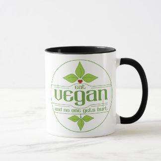 Coma al vegano y nadie consigue daño taza