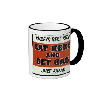 Coma aquí y consiga el gas tazas de café