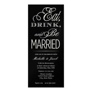Coma, beba, esté casado invitaciones personales