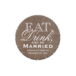 Coma, beba, sea favor de encargo casado del boda d latas de caramelos
