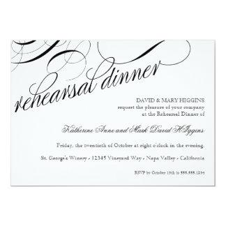 Coma, bebida consiguen la cena casada del ensayo invitación personalizada