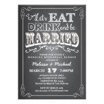 Coma, bebida y esté casado casando la cena del ens invitación personalizada