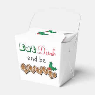 Coma, bebida y sea feliz cajas para regalos
