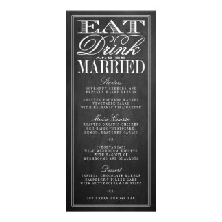 Coma, bebida y sea menús casados del boda de la lonas personalizadas