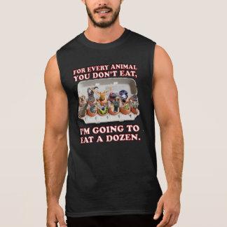 """""""Coma camisa negra del músculo de docena animales"""""""