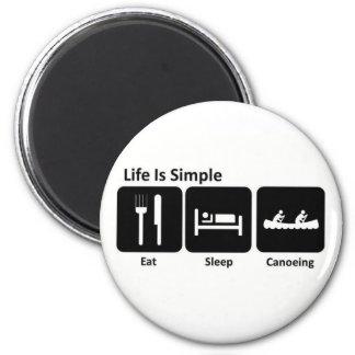 Coma canoeing del sueño imán de frigorifico