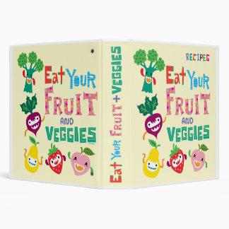 Coma carpeta de su receta de la fruta y de los Veg