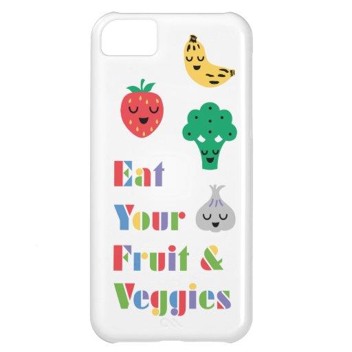 Coma caso de su iPhone 5 de la fruta y de los Vegg