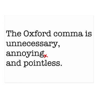 Coma de Anti-Oxford Tarjetas Postales