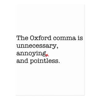 Coma de Anti-Oxford Tarjeta Postal