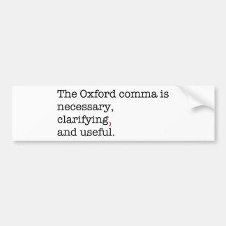 Coma de Favorable-Oxford Etiqueta De Parachoque