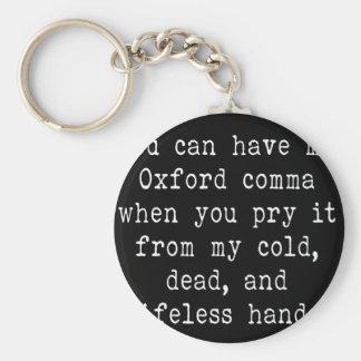 Coma de Oxford Llavero Redondo Tipo Pin