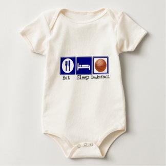 Coma, duerma, baloncesto body para bebé