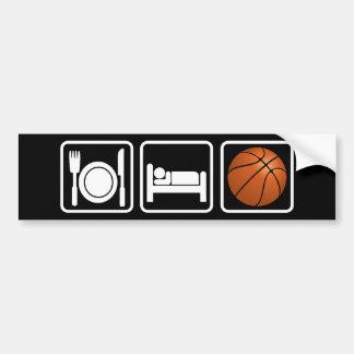 Coma duerma baloncesto etiqueta de parachoque