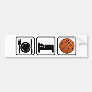 Coma, duerma, baloncesto etiqueta de parachoque