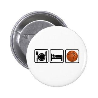 Coma duerma baloncesto pins