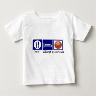 Coma, duerma, baloncesto playera de bebé