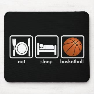 Coma, duerma, baloncesto tapetes de ratón