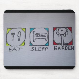 coma, duerma, cultive un huerto mousepad