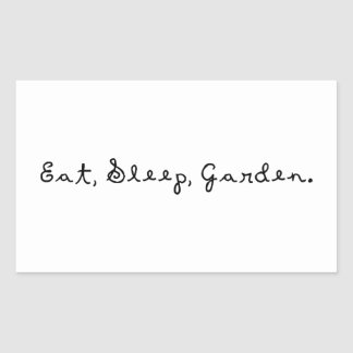 Coma, duerma, cultive un huerto rectangular altavoces