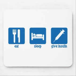 Coma, duerma, dé la insulina alfombrillas de ratones