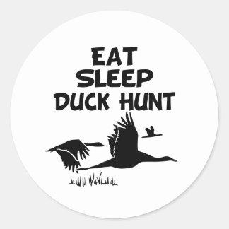 Coma, duerma, Duck la caza Pegatina Redonda