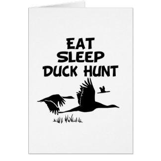 Coma, duerma, Duck la caza Tarjeta De Felicitación