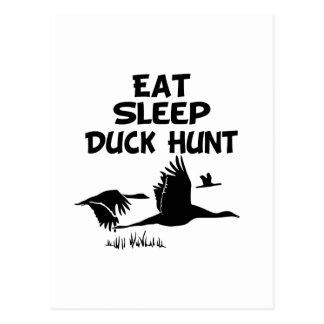 Coma, duerma, Duck la caza Tarjeta Postal