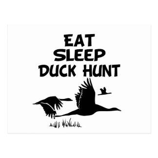 Coma, duerma, Duck la caza Tarjetas Postales