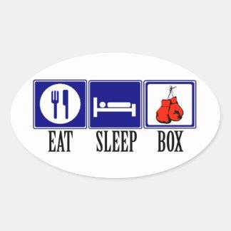 Coma, duerma, encajonando pegatina ovalada