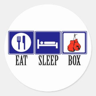 Coma, duerma, encajonando pegatina redonda