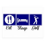 Coma, duerma, Golf Postales