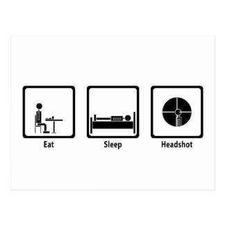 Coma, duerma, Headshot - videojugador de FPS Tarjetas Postales