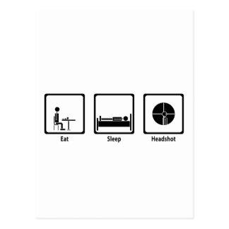 Coma, duerma, Headshot - videojugador de FPS Postal