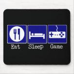 Coma, duerma, juego alfombrillas de raton
