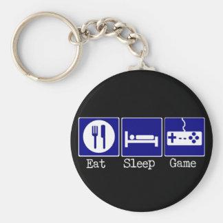 Coma, duerma, juego llavero redondo tipo pin