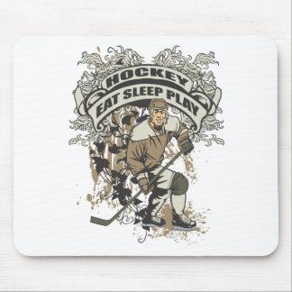 Coma, duerma, juegue al hockey tapetes de raton