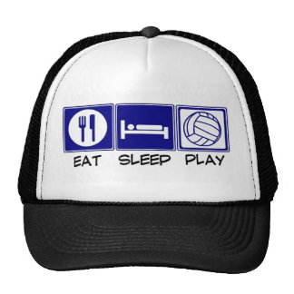 Coma, duerma, juegue al voleibol gorra