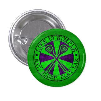 Coma, duerma, juegue el botón de LaCrosse Pin Redondo De 1 Pulgada