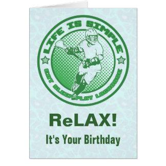 Coma, duerma, juegue la tarjeta de cumpleaños de L