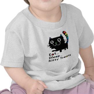 Coma, duerma, las invitaciones del gatito camisetas